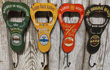 Vintage Look Beer Opener Style Hook Sign Bar Man Cave Decor Hat Coat Towel Hook