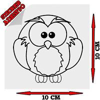 Sticker Adesivo Decal Gufetto Gufo Owl Portafortuna Civetta Auto Moto Tuning