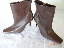 Ladies Kangol Brown Leather Boots Size UK 7 EU 41