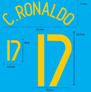 PORTUGAL Home World Cup 2006 SOCCER FOOTBALL NAME NUMBER PRINT
