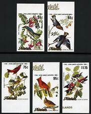 Aitutaki 1985 Audubon Vögel Gemälde Zeichnungen Birds 554-558 U Imperf MNH / 239