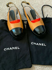 Vintage Chanel Slingback Patent Leather Pumps with Heel, Size 38.5 (8)