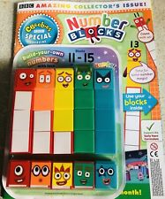 CBeebies numberblocks 11-15 Magazine /& autocollants fait nombre de blocs de 1-5 trop!