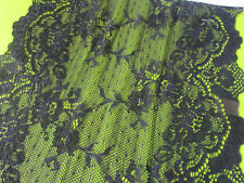 Elegante Spitze Schwarz elastisch 21,5cm breit Borte tolle angebot selten
