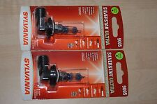 Sylvania Silverstar ULTRA 9005 Pair Set 2 SINGLE Bulbs Headlights NEW