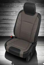 2015-19 FORD F150 SUPER CREW XLT BLACK GRAY KATZKIN LEATHER SEAT COVERS BUCKETS