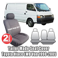 Custom Seat Covers Fit TOYOTA HIACE LWB Van Outback Canvas 1990-2005 Charcoal