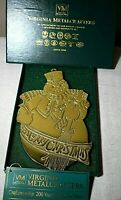 Virginia Metalcrafters 2nd Christmas Trivet 1998 The Snowman Christmas Large Vtg