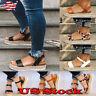 Women Summer Flat Platform Open Toe Sandals Espadrilles Ankle Strap Pumps Shoes