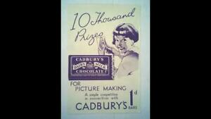 CADBURY'S PICTURE MAKING COMPETITION SHEET FROM 1934 .