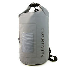 Buhbo Waterproof Dry Bag for Kayak Canoe Backpack Duffle, 15 Liters Gray
