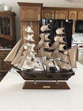 "Heritage Mint H. M. S Bounty Wooden Model Ship 20""x22.5"""