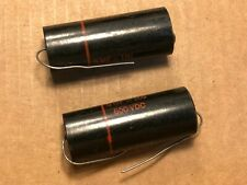 2 NOS Vintage Sprague Black Beauty .5 uf 600v Capacitors TEST GREAT #AA