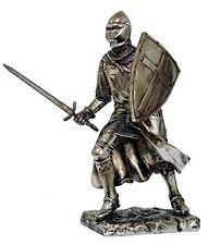 "7"" H Medieval Crusader Knight Sword Armor Shield Guard Templar Figurine Statue"