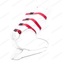 Dungeon Wheel 7 Varies Length Red Straps Full Body Restraints, Wrist Ankle cuff