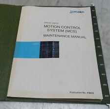 Okuma Drive Units Motion Control System (MCS) Maintenance Manual, 4184-E, Used