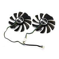 2PCS Replacing GPU Graphics Card Cooling Fan for ZOTAC GeForce GTX 1080 1070 AMP