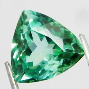 Natural Loose Gemstone 6.35 Carat Trillion Cut Teal Sapphire