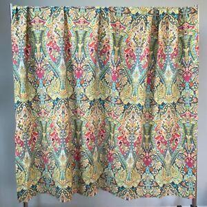 World Market Alessia Boho Paisley Shower Curtain VGC