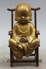 """6"""" Tibet Copper Bronze Buddhist monk Sarire Jizo Kshitigarbha Buddha Statue"""