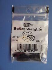 FIVE 2-Packs FRP34BLK NEW! Black TEN 3//4 oz Screw-In Worm Bullet Weights