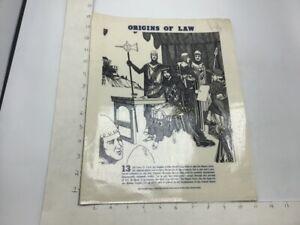 Original 1974 ORIGINS OF LAW Poster - MAGNA CARTA - J Weston Walch