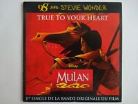 B.O.F. MULAN : TRUE TO YOUR HEART (98° AND STEVIE WONDER) ♦ CD Single Promo ♦