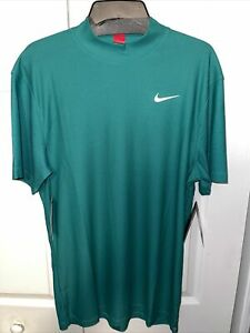 Nike Tiger Woods Mock Neck Green Golf Shirt, Size S, NWT $90, CT6078-370