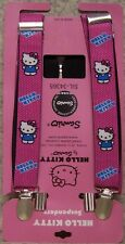 "Suspenders Children & Junior 1""x36"" FULLY Elastic Hello Kitty pink NEW Made USA"