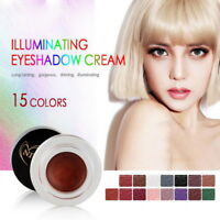 15 Color Womens Eyeliner Eye Shadow Glue Waterproof Lasting Eye Shadow Cream