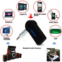 Mini 3.5mm Bluetooth A2DP Car Music Audio Stereo Receiver Adapter Transmitter