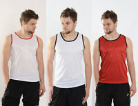 Mens Lightweight Vest Training Gym Running Top Breathable Sleeveless T Shirt
