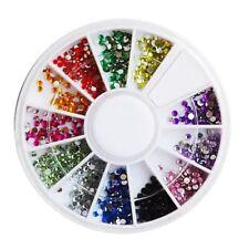 Roue de Strass pour Nail Art Cristaux Multicolore 1,5mm Manucure Decoration