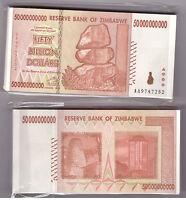 ZIMBABWE BUNDLE 100 X 10 BILLION USED BANKNOTE BUNDLE TRILLIONS PACK XF