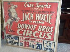 """Downie Bros / Chas. Sparks presents Jack Hoxie And """"Scout"""" the Wonder Horse"""