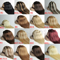"""Clip in Hair Extensions 100% Human Hair 16 all colors size 14"""" 16"""" 18"""" 20"""" 22"""""""