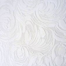 Anaglypta White Blown Vinyl Embossed Textured Paintable Pattern Wallpaper2613-11