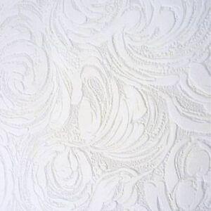 Anaglypta White Blown Vinyl Embossed Textured Paintable Pattern Wallpaper2613-11