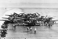 B&W WWII Photo Battle of Midway USS Enterprise CV-6 US Navy  WW2 World War Two
