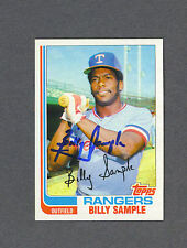 Billy Sample signed Texas Rangers 1982 Topps baseball card