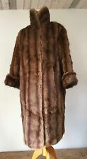 VINTAGE FULL LENGTH MED BROWN REAL FUR  COAT CLASSIC CUT    B 42""