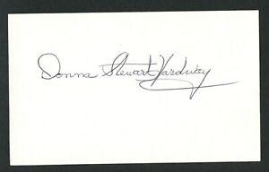 Donna Stewart-Hardway (d. 2008) signed autograph 3x5 Wizard of Oz Munchkin IC097