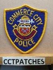 COMMERCE CITY, COLORADO POLICE FELT SHOULDER PATCH CO