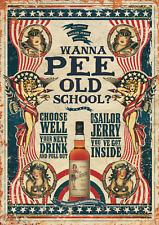More details for sailor jerry vintage metal sign pub bar man cave beer plaque party garden tiki