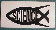 Science/ Darwin Fish x 2 Ichthys Black Vinyl Sticker, Decal, Car Bumper, Window