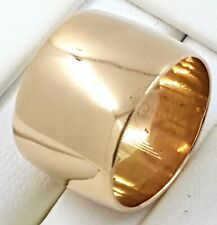 9k plain band 12mm wide RING_375 yellow gold
