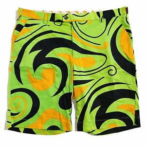 Loudmouth Golf Psychedelic Green Mens Shorts 42 105cm