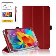 Carcasas, cubiertas y fundas rojos Galaxy Tab de piel sintética para tablets e eBooks