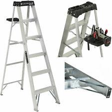 6 Foot Aluminum Stepladder Ladder 250 lb Capacity Type I Heavy Duty