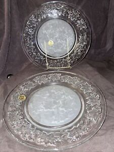 PRINCESS HOUSE Exclusive FANTASIA Fine Crystal Dinner Plates x 2